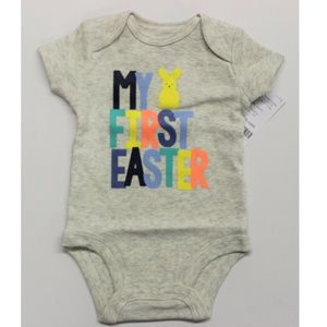 """Carter's Baby """"My First Easter"""" Bodysuit - Gray"""